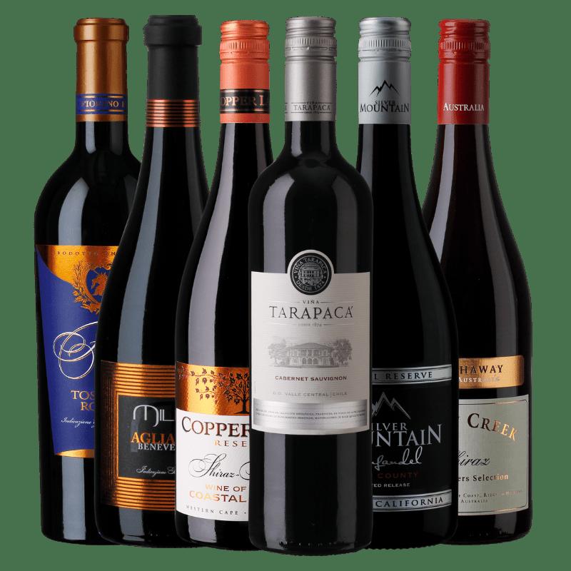 Favorit smagekasse 6 flasker rødvin