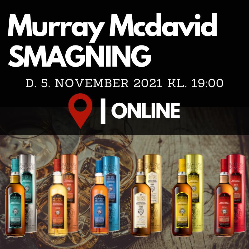 Murray McDavid en online smagning d. 5. november