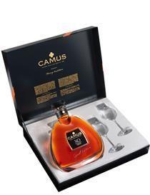 Cognac Camus XO MED 2 glas i gave æske