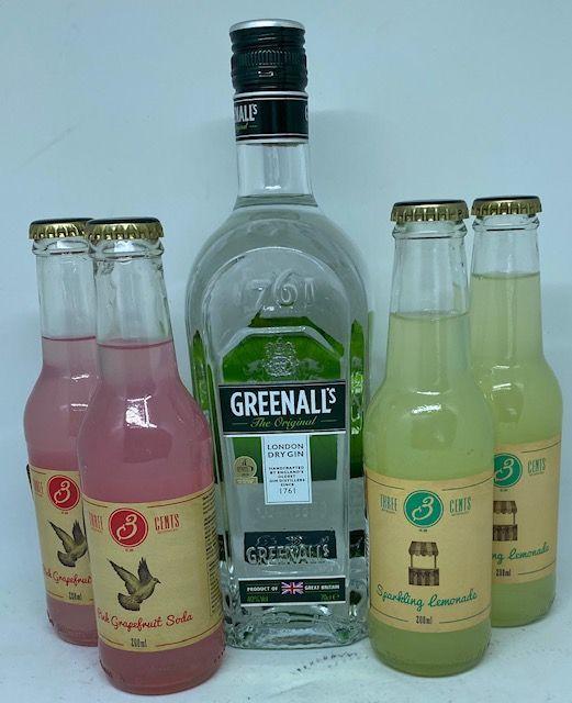 Greenall`s London dry gin med 4 fl. Tree Cents tonic