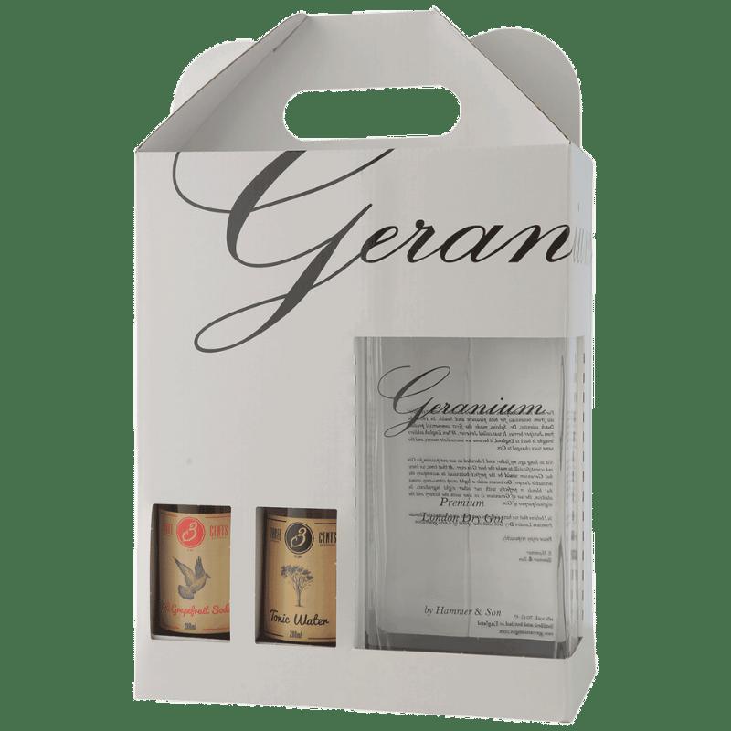 Geranium gaveæske med 4 tonic