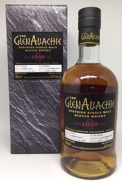 GlenAllachie 1989 29 års flasket oktober 2018. Batch 100049