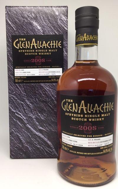 GlenAllachie 2008 9 Års cask nr. 569 flasket 889 flasker 54,8 %