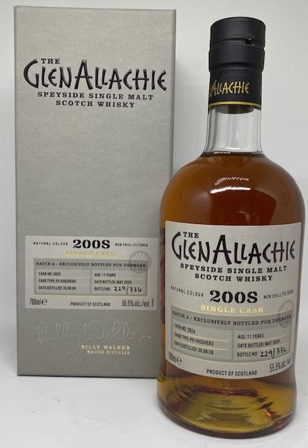 GlenAllachie 2008 11 års PX Hogshead 55,5 %