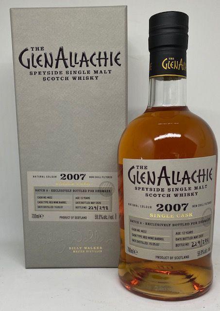 GlenAllachie 2007 12 års Red wine barrel 59,9 %
