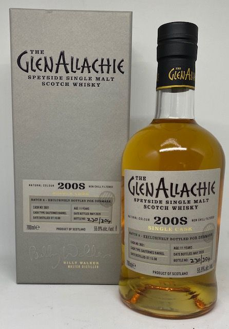 GlenAllachie 11 års Single cask Sauternes barrel 55,9 %