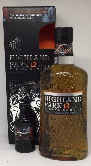 Highland Park 12 års med 5 cl. Dragon Legend