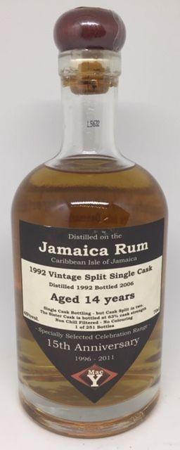 Jamaica rom 14 års , 1992 vintage split single cask