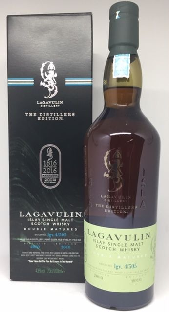 Lagavulin Islay single malt Double matured 2000-2016