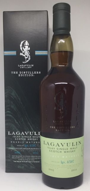Lagavulin Islay single malt 43 % Double matured 2002-2018