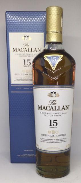 Macallan 15 års Triple Cask matured, 43 %