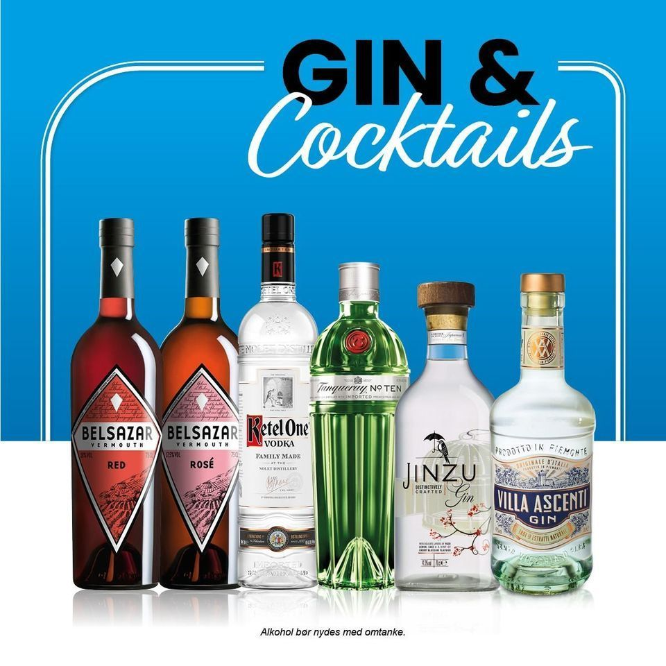 Online gin & cocktail smagning