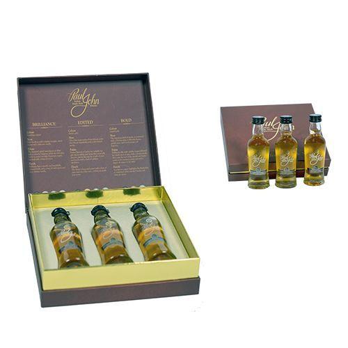 Paul John Indisk whisky 3 x 50 ml i gavekasse