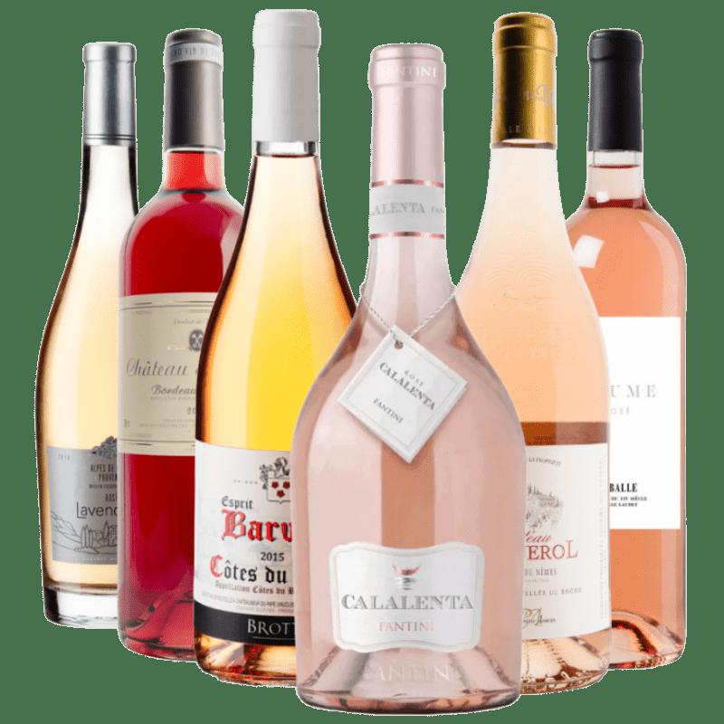 Smagekasse Rose Fra 6 vinhuse 6 flasker