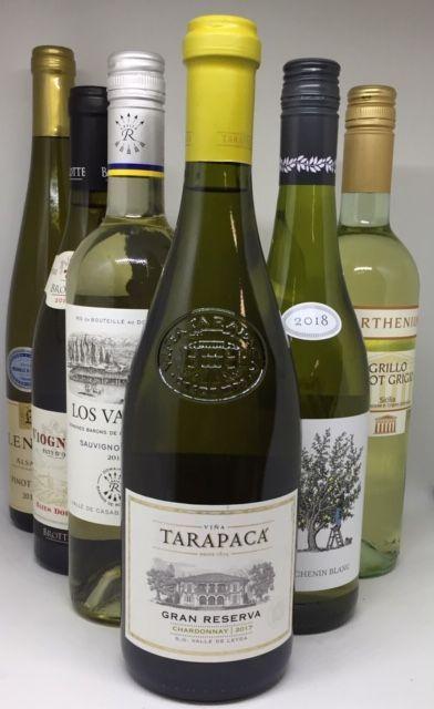 Smagekasse 6 forskellige hvidvins druer