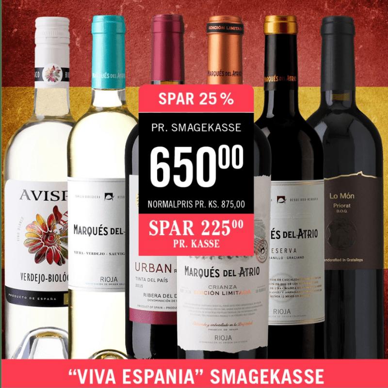 Smagekasse Spanske vine