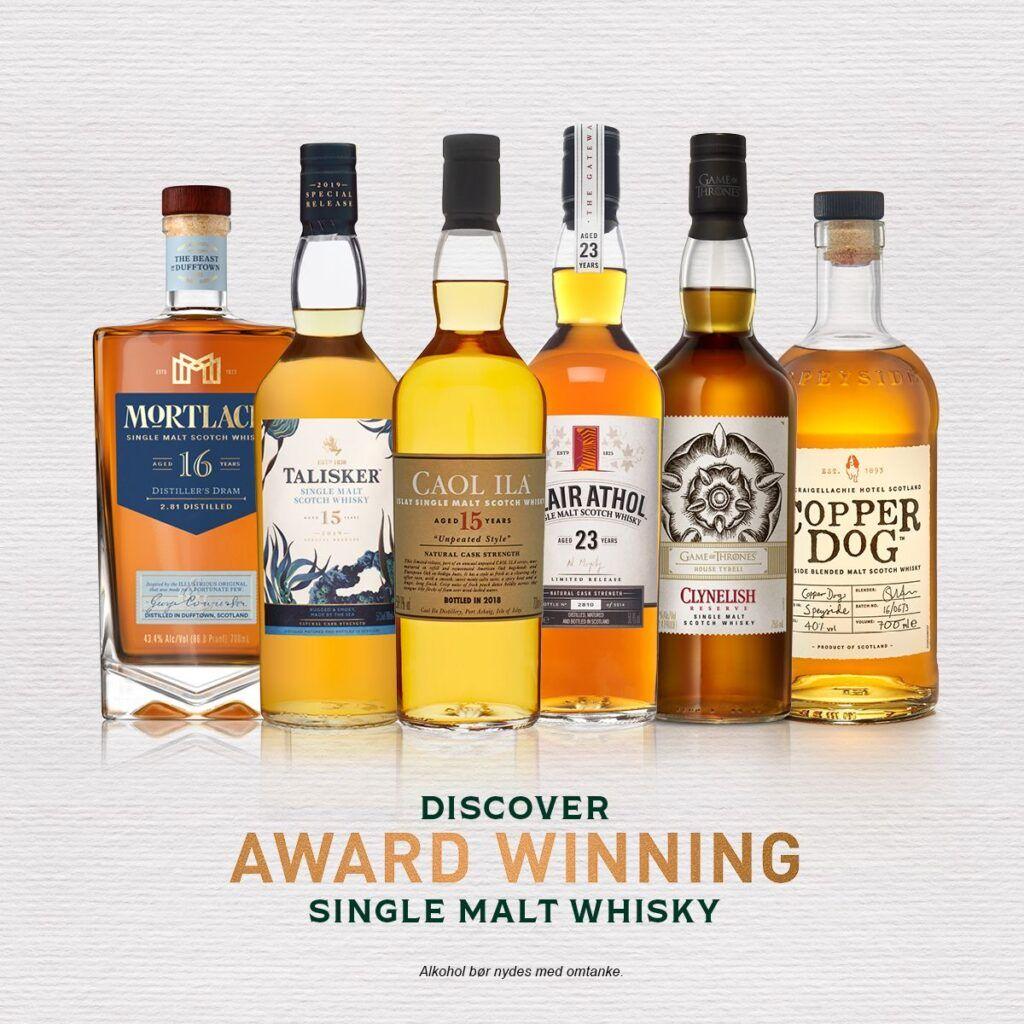 Single malt whisky online smagning