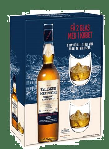 Talisker Port Ruighe med 2 glas i flot gaveæske