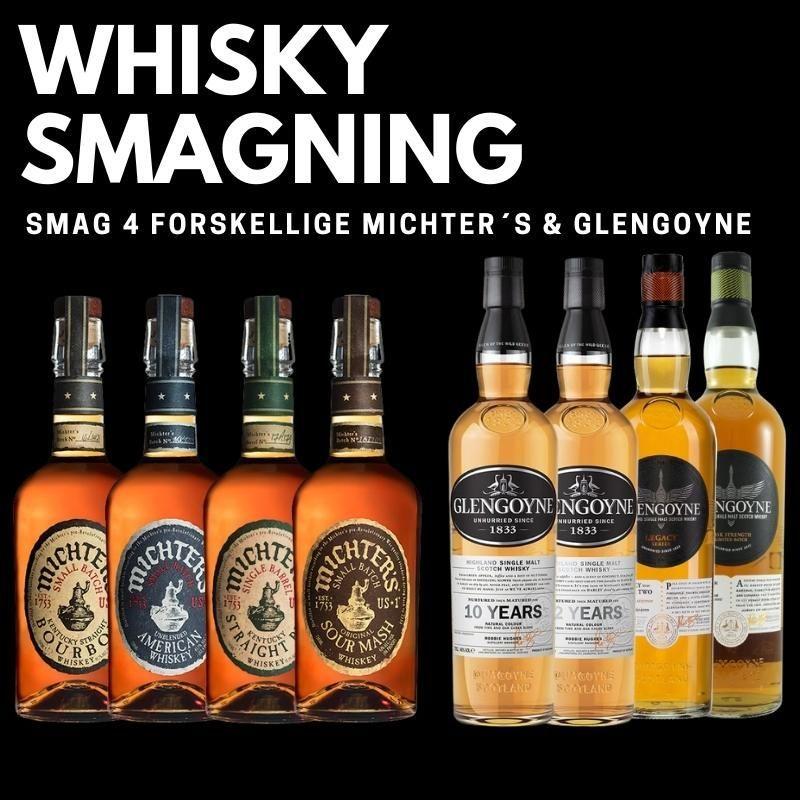 Whisky smagning Michter & Glengoyne